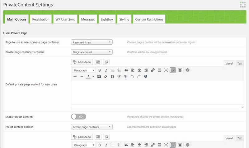 PrivateContent-Multilevel-Content-Plugin