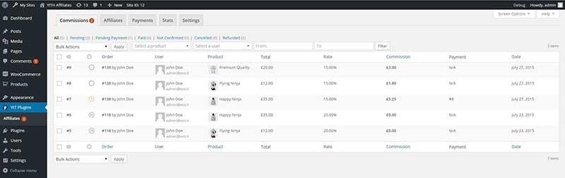 YITH WordPress WooCommerce Affiliate Plugin